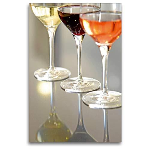 Premium Textil-Leinwand 80 x 120 cm Hoch-Format Madiran Wein | Wandbild, HD-Bild auf Keilrahmen, Fertigbild auf hochwertigem Vlies, Leinwanddruck von Patrice THEBAULT