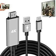 HDMI Adapter USB Type C Cable MHL 4K HD Video Digital Converter Cord for Samsung Galaxy S20 S10 S9 Note 20 LG G8 G5 Android Phone iPad Pro iMac MacBook Dell Mirroring Charging to Monitor Projector TV