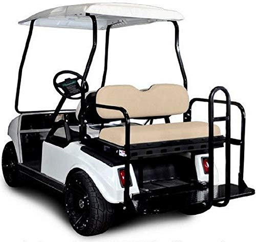 Best Deals! Madjax 01-004 Genesis 150 Rear Flip Seat Kit for 2001.5-Up Club Car DS Golf Carts Buff C...
