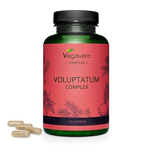 Vegavero ® Tribulus Komplex | 100% PFLANZLICH | Maca Extrakt - Tribulus Terrestris - Panax Ginseng | STEROID-SAPONINE | Hochdosiert | 120 Kapseln | Voluptatum Complex für Männer | Laborgeprüft