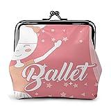 Hermosa Bailarina Ballet Personaje Cuero clásico Floral Monedero Cartera Cartera para Mujer Personalizada