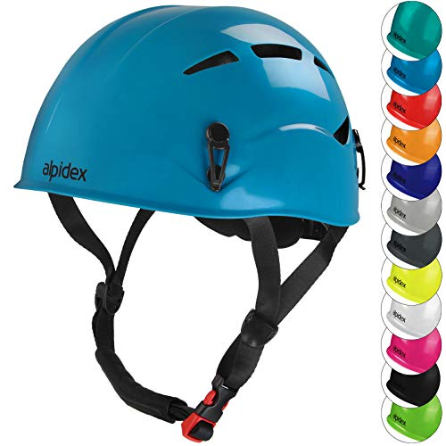 ALPIDEX Universal Kletterhelm für Herren und Damen Klettersteighelm in unterschiedlichen Farben, Farbe:Turquoise Blue