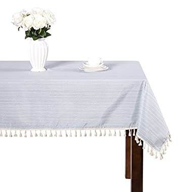 Modern simple cotton blue and white striped tablecloth party dining room tablecloths rectangular