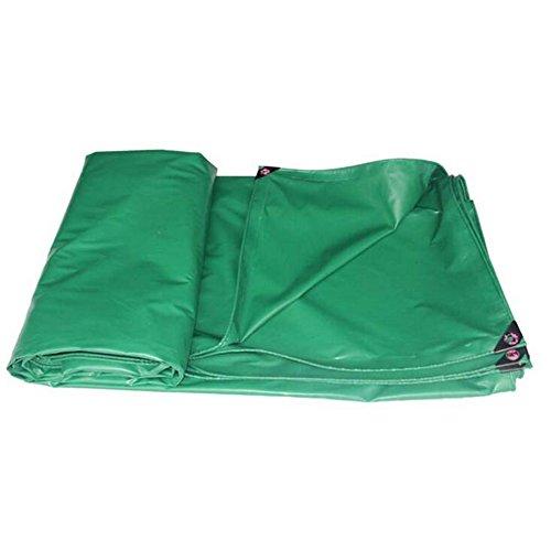 Pengbu MEIDUO Bâches Bâche imperméable de Voiture de Camion de Tissu imperméable de bâche de Toile Verte de bâche de Toile 450g / m² 0.35mm pour l'extérieur (Couleur : Vert, Taille : 5 * 6m)