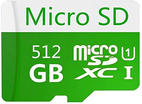 Scheda Micro SD da 128 GB/256 GB/400 GB/512 GB/1024 GB progettata per smartphone Android, tablet scheda di memoria SDXC ad alta velocità classe 10 con adattatore Micro SD (512 GO-AA)