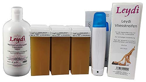 Leydi Prive BIG Wachspatronenset Honig - Haarentfernung mit Warmwachs und großem Zubehör
