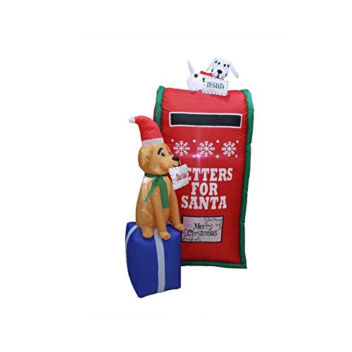 Impact Canopy Christmas Inflatable Decoration, Outdoor Holiday Lighted Mailbox with Dog, 6' Tall