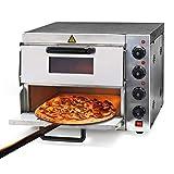 Forno per pizza professionale con doppia camera in acciaio inox, 3000W, 350°C Fornetto elettrico