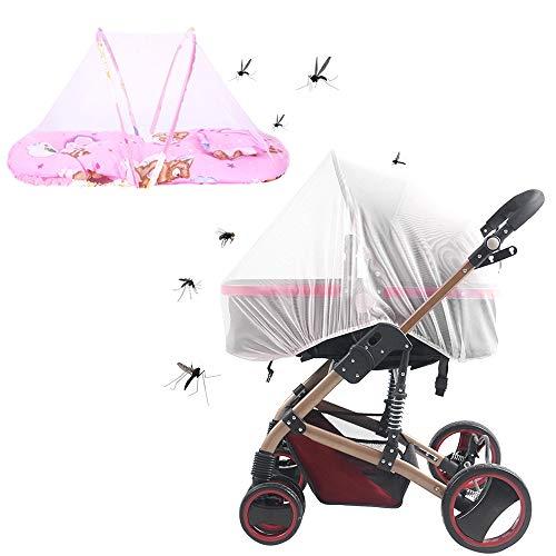 Ldawy Baby-Moskitonetz, faltbares Babybett mit Moskitonetz, supereinfaches Einrichtungssystem, extra feine Löcher, Insektennetz