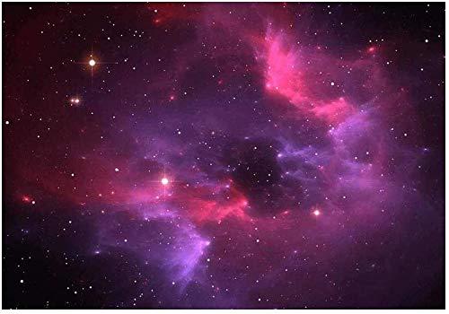Deeaceo® 3D Fototapete Wandbild Fantasy Pink Galaxy Universum Wandbild Junge Mädchen Kinderzimmer Wandposter Tapete Selbstklebend Riesen Aufkleber für Kinder Geburtstag Geschenk 350x256cm(W+H)