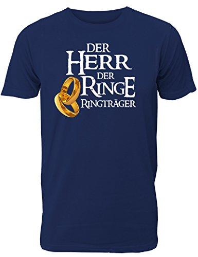 T-Shirt für den Junggesellinnenabschied mit dem Motiv Der Herr der Ringe - Ringträger, Größe XXL