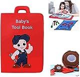 Xingdong Quiet Livre for bébés Outil Livre for Apprendre sensoriel Livre Parent-Enfant Communication Déterminer Les compétences des garçons et des Filles Enfants de Noël Mode
