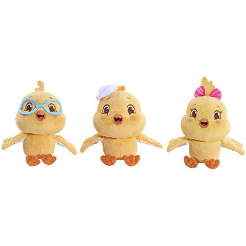 Canticos Nickelodeon The Little Chickies: Los Pollitos Small Plush with Sound Bundle Pack, Yellow