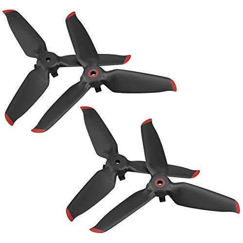 2 Pares de hélices FPV compatibles con dji FPV Combo Drone, alas de hélices SENHAI para View Drone UAV Quadcopter con cámara 4K - Red Edge