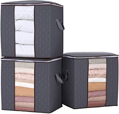 Bolsa de almacenamiento de ropa 90L de gran capacidad organizador con la...