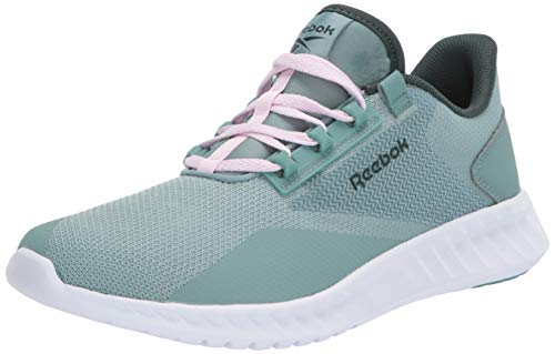 Reebok Women's Sublite Legend Running Shoe, Green Slate/White/Ivy Green, 8.5 M US