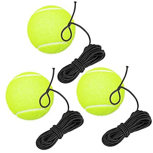sylbx Pelota de Tenis con Cuerda,3pcs Pelota de Rebote Entrenamiento Tenis,Entrenador Pelota...