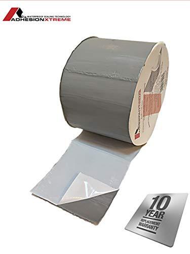 AX © * PREMIUM * 10m * 50mm Gris Cinta adhesiva de reparación Cinta adhesiva cinta de sellado - Metales, canalones, parches de PVC de EPDM a prueba de agua autoadhesivo a prueba de intemperie