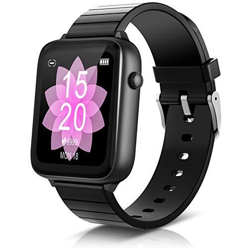 ELEGIANT Fitness Activity Tracker, Smartwatch Bluetooth 5.0 Orologio IP68 con 1,54'' Schermo Toccato 128MB capacità 23 Sport per iPhone 11 PRO XS XR x 8s Samsung S20 S10 S9 Huawei P40 P30 P20 ECC