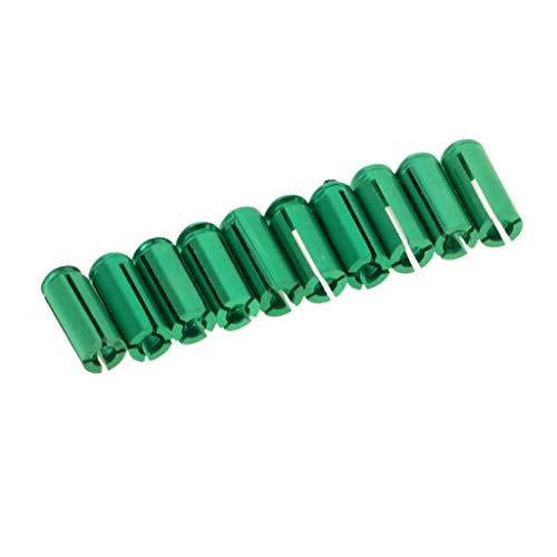 perfk 10 Stück Dart Flight-Schutz Aluminium Dart Flyschutz Grün