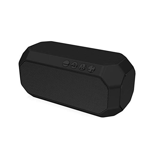 JUNPE Altavoz portátil Impermeable al Aire Libre subwoofer subwoofer altiler HiFi música inalámbrica USB Altavoces portátil Bluetooth Altavoz Gran Potente Bluetooth (Color : Black)