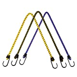 Outdoor Binding Rope Camping String Elastic Tent Rope Reflective Guy Lines with Hooks for Car Bike Luggage Tie Camping Tent 3PCS