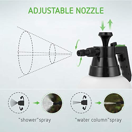 VIVOSUN 51oz Hand held Garden Sprayer Pump Pressure Water Sprayers, 0.4 Gallon Hand Sprayer for Lawn, Garden