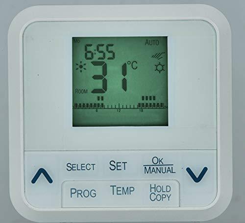 MKC MK680 Cronotermostato, con Programmazione Settimanale, Bianco