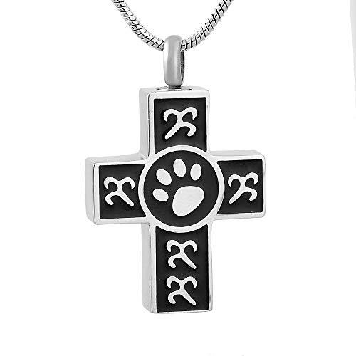 rmdfz Collar de Tarro de cremación Top Girl Boy Women Men Pet Dog Acero Inoxidable Memorial Ash Keepsake Cremation Jewelry Colgante Collar, Ash Jewelry