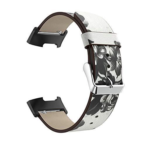 Correa De Reloj Compatible con Charge 3 / Charge 4, Correas De Repuesto Strap De Reloj De Cuero Cinturones Estampados Bandas Transpirables Pulsera Compatible con Charge 3 / Charge 4,B