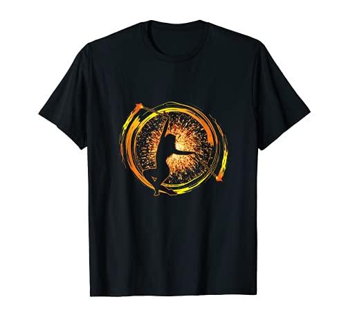 Feuer Poi Feuertänzerin Feuerkunst Feuershow Geschenk T-Shirt