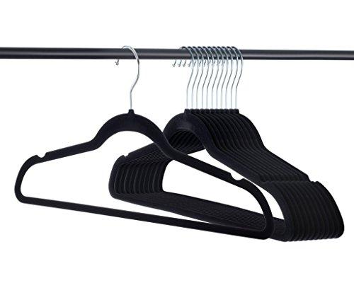 Home-it Premium Velvet Hangers Heavy Duty Clothes Hook Swivel 360-Ultra Thin 50 Pack