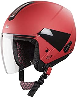 Steelbird SBH-5 VIC Female Glossy Sports Red with Plain Visor,560 mm