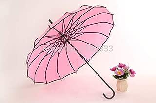 Pagoda Umbrella - 5 Color Good Long Handle Solid Fashion Colorful Sunny And Rainy Creative Pagoda Umbrella Dhl Fedex - For Purple Black Sourpuss Waterproof Patio White Outdoor Rain Orange