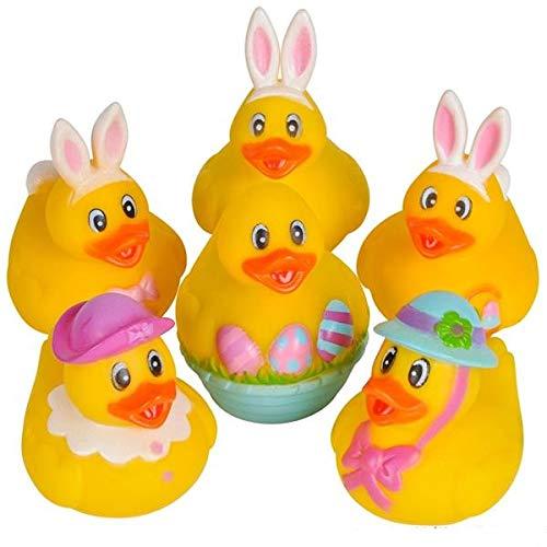 Rhode Island Novelty 2 Easter Bunny Rubber Duckies (12 Piece) by Rhode Island Novelty