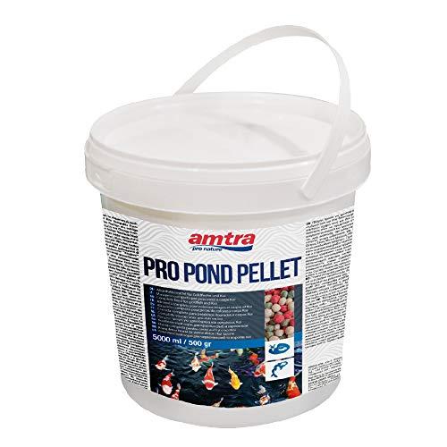 Amtra PRO Pond Pellet - alimento per Pesci Rossi e Carpe Koi da laghetto in Pellet, Formato 5000 ml