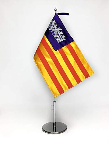 ABBE Global Bandera de Mesa Bordada de Baleares 15x25 y mástil