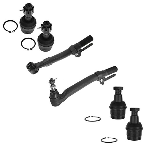 Front Steering Suspension Tie Rod End Ball Joint Kit Set 6pc for 4WD F250 F350
