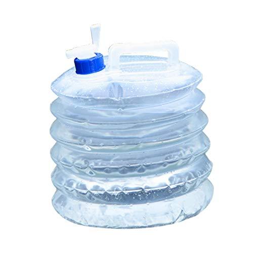 Lingge Cubo de Agua Portátil Garrafa Plegable, 5L/10L / 15L Depósito de Agua Reutilizable Almacenamiento de Agua Sin BPA, Contenedor de Agua con Grifo para Camping Senderismo Picnic Barbacoa heathly