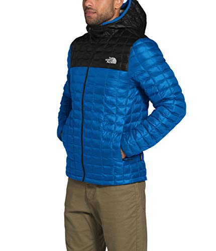 The North Face Men's Thermoball Eco Hoodie, Bomber Blue/TNF Black, XXL