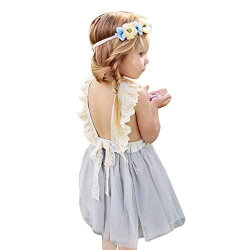 Weant Baby Kleidung Mädchen Outfits Spleißen Spitze Schulterfrei Elegany Prinzessin Partykleid Sommerkleid Prinzessin Kleid Kinder Kleider Baby Bekleidungssets Neugeborenen Bekleidungset