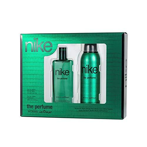 Nike The Perfume Intense, Estuche de Regalo para Mujer, Eau de Toilette 75 ml y Desodorante Spray 200 ml