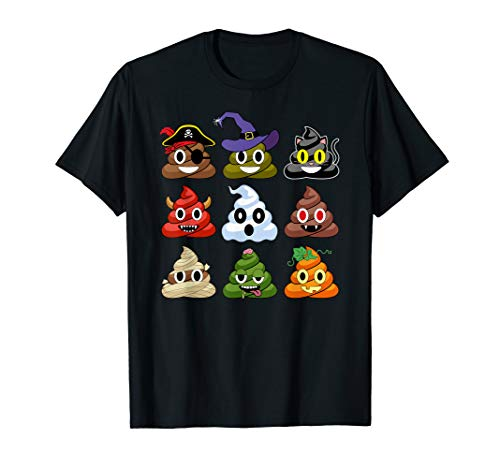 Halloween Poop Emojis Funny T-Shirt