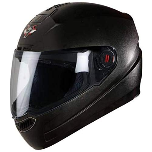 Steelbird SBA-1 Classic 7WINGS Full Face Helmet with Plain Visor (Large 600...