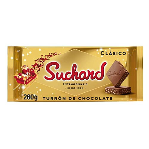Suchard, - Turrón De Chocolate Con Leche Clásico Navideño - Tableta De G, Navidad Y Fiestas, 260 Gramo