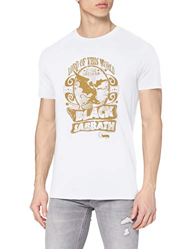 MERCHCODE Camiseta para Hombre Black Sabbath Lotw White tee, Hombre, Camiseta, MC031, Blanco, Extra-Large