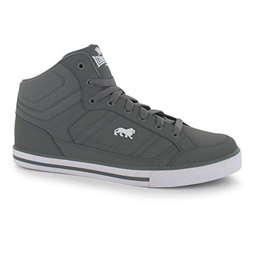 Lonsdale Canons Herren Turnschuhe Hi Top Sneaker Logo Freizeit Sport Schuhe Tan/Weiß 9.5 (43.5)
