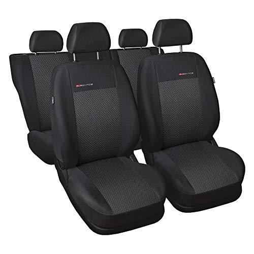 GSC Sitzbezüge Komplettset 5-Sitze nach Maß Autositzbezug Elegance, kompatibel mit FIAT Doblo I-II 00-10r.