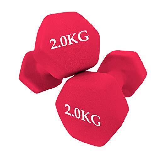 unycos - Set de 2 Mancuernas - Ejercicio Fitness - Entrenamiento en Casa - Gimnasio (2 KG)