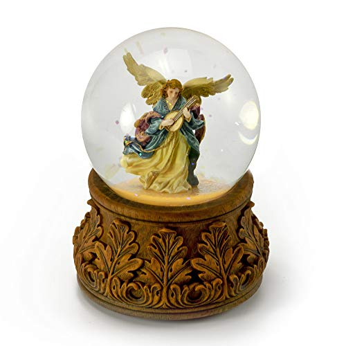 hemelse engel spelen mandoline met decoratieve basis muzikale water Globe- meer dan 400 lied keuzes